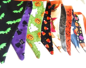 Halloween Bunting Banner Garland-Fall Bunting Banner- Trick or Treat Bunting