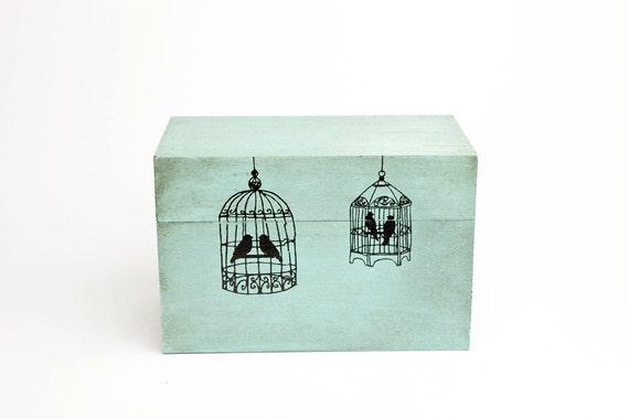 Blue Bird Cage Box