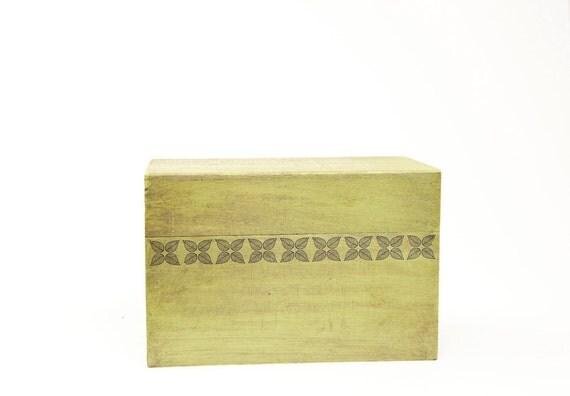 SALE Leaf Recipe Box