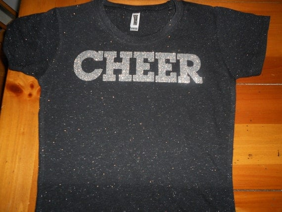 Custom Sparkle T Shirt With Glitter Lettering By
