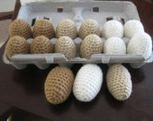 6 Hand Crochet EGGS Pretend Play Food
