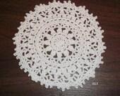 Crocheted White Doily (Item 013)