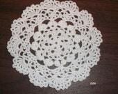 """5"""" (12.7 cm) Crocheted White Doily (Item 004)"""