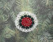 Crocheted Christmas tree ornament