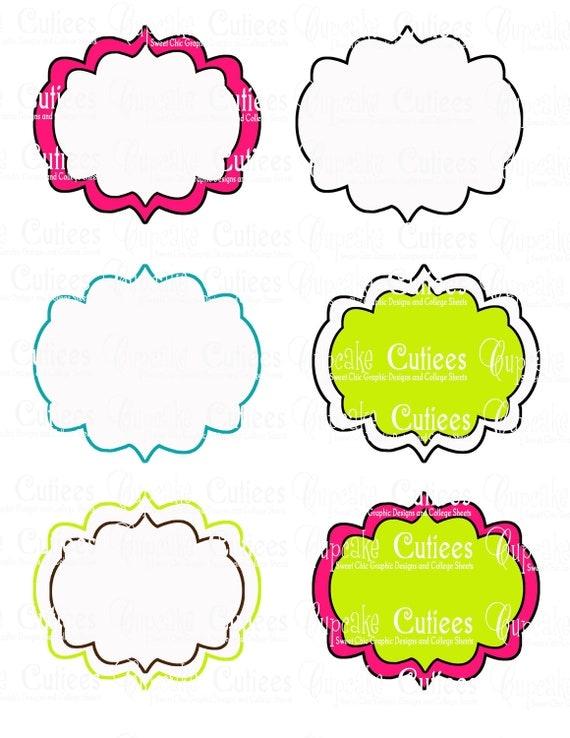 Items similar to Sugar PoP FANCY Digital BLANK Table TeNts ...