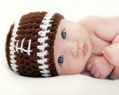 Baby Football Hat, Baby Boy or Baby Girl Football Hat, Crochet Baby Football Hat