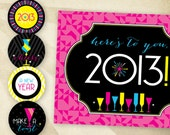 "Neon New Year - ""Hostess Holiday Essentials"" Printable Party Collection"