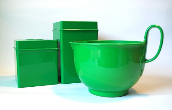 Dansk Gourmet Designs Green Mixing Bowl & Containers