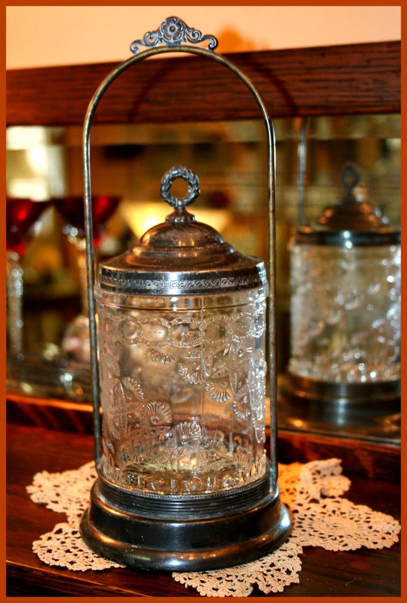 Vintage Victorian era Pickle Jar Pickle Castor