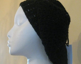 Black Crocheted Slouchy hat