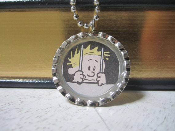 Calvin and hobbes:  calvin jailed pendant