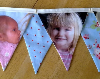 Personalised Photo Fabric Bunting - MADE TO ORDER