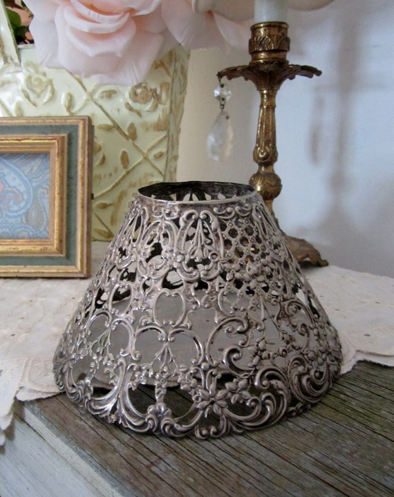 Shabby Chic Wire Lamp Shades - Set of 5
