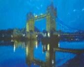 London Tower Bridge mounted print (large)