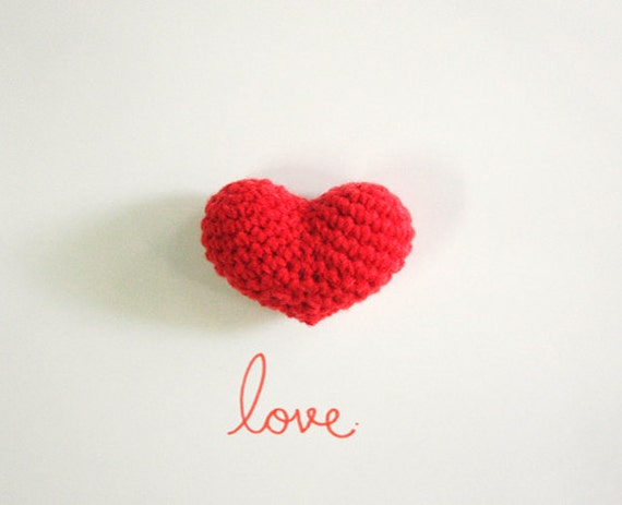 Amigurumi Big Heart : Set of 2 Big Red Crochet Amigurumi Heart by WereRabbit2006 ...
