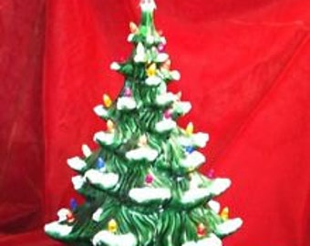 "18"" Atlantic Ceramic Christmas Tree with extra snow tips"