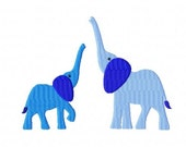 Mommy and Baby Elephants - Machine Embroidery Designs