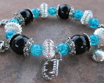 Emmett Vampire Blue Ice Charm Bracelet