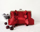 Red Romantic Wedding Clutch Purse