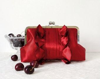 Red Romantic Wedding Clutch Purse