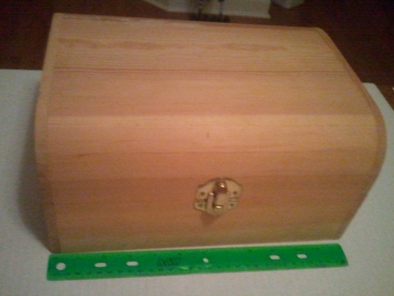 Large treasures unfinished wood treasure chest by bzkids
