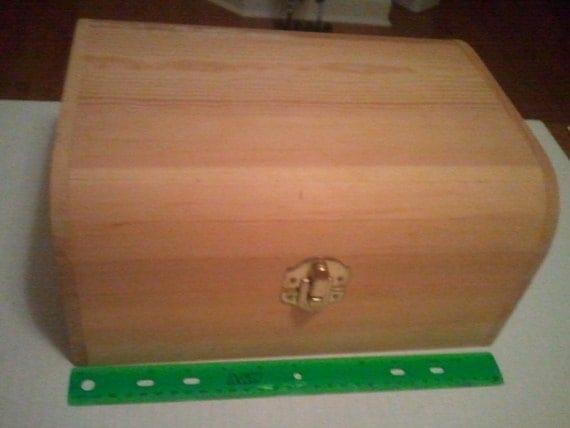 Unfinished Wood Treasure Chest ~ Large treasures unfinished wood treasure chest by bzkids