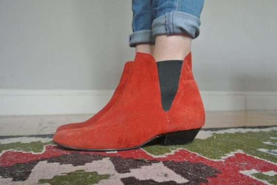 VIntage Red Chelsea boots 9.5 / 10