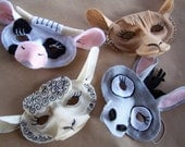 6 Nativity Animal Masks for Christmas or as Farm Animals for Birthday Parties