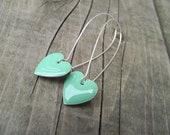 Wear Your Heart Earrings - Mint