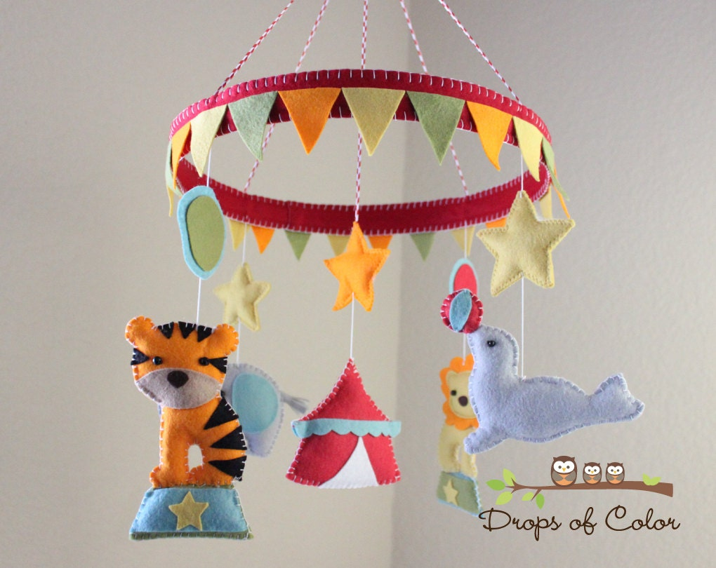 Baby Crib Mobile Baby Mobile Circus Mobile Animals In