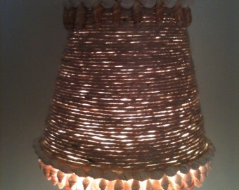 Beachy Candlestick Lamp and Jute Wrapped Shade