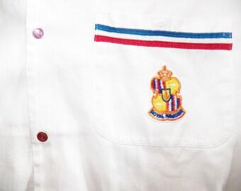 Mens Vintage 50s Royal Hawaiian Cabana Pool Boy Uniform  Shirt - L - The Hana shirt Co