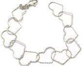 Heart Bracelet - Sterling Silver Jewelry - Bridal Jewelry