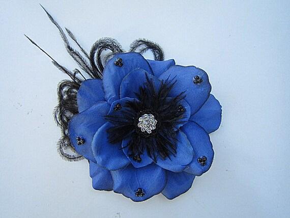 Carissa Royal Blue Gardenia Flower Hair Clip by EndlessFlowers