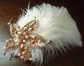 Bridal headpiece, Hair clip, bridal hairpiece, hair adornments, hair accessories, wedding headpiece, wedding hair clip mdw-0017