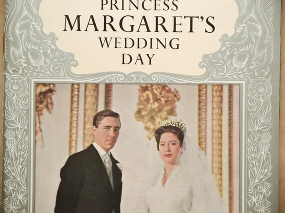 Vintage 1960s wedding royal wedding Princess Margaret's Wedding book