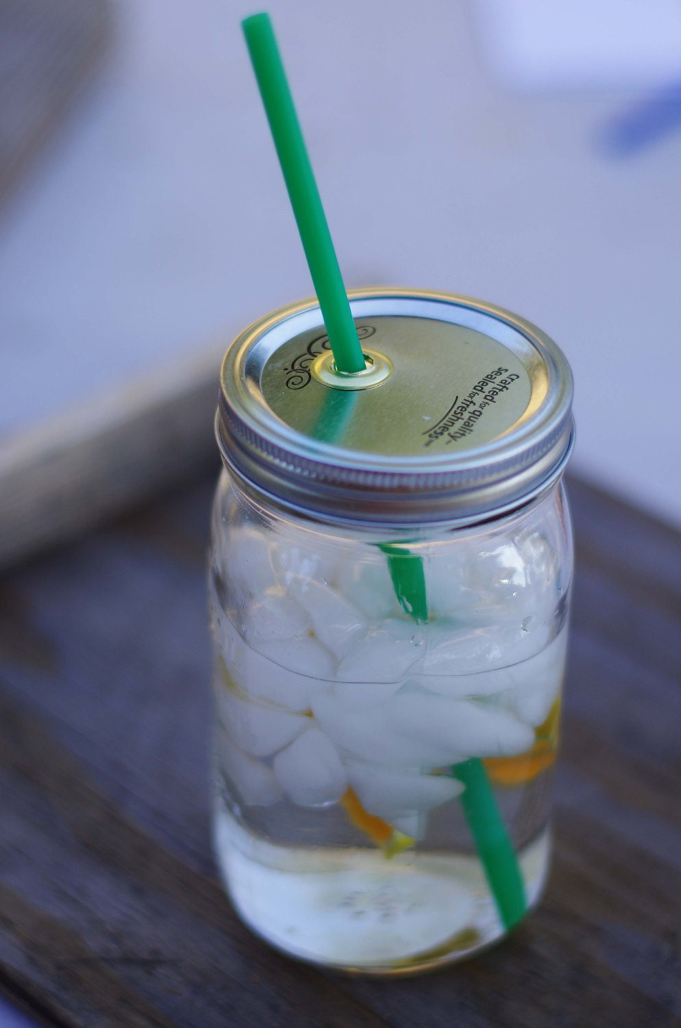 32 oz wide mouth mason jars -  32 Ounce Wide Mouth Mason Jar Straw Cup Zoom