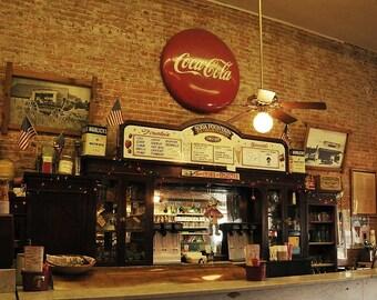 An Old Time Soda Fountain an 8 x 10 Photo, wall decor, home decor