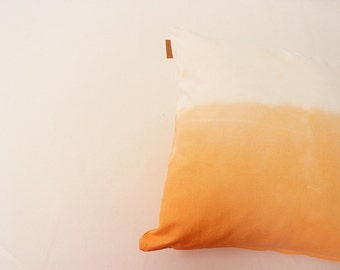 orange ombre pillow cover, 18x18