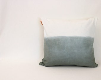 1 dark green ombre pillow cover