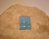 Gorgeous large rectangle cab blue chalcedony gemstone