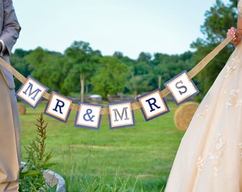 Personalized Wedding Banner - Mr. and Mrs.