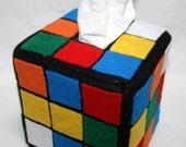 Rubik's Cube Tissue Box Cover Geek Graduation Gift Idea