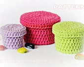 Crochet Pattern - Crochet Boxes (Pattern No. 022) - INSTANT DIGITAL DOWNLOAD