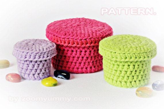 Crochet Pattern - Crochet Boxes (Pattern No. 022) - INSTANT DIGITAL DOWNLOAD