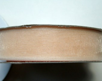 "5/8"" Organza Ribbon - Ivory - 25 yard spool"