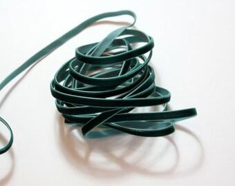 """1/4"""" Velvet Ribbon - Hunter Green - 3 yards"""