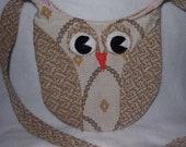 Beige on Beige Owl Purse
