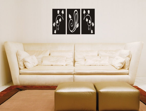 Leafy Wall Panels Wall Decal Removable Sticker