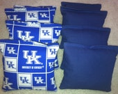 UK University of Kentucky Wildcats Cornhole Bags Set of 8